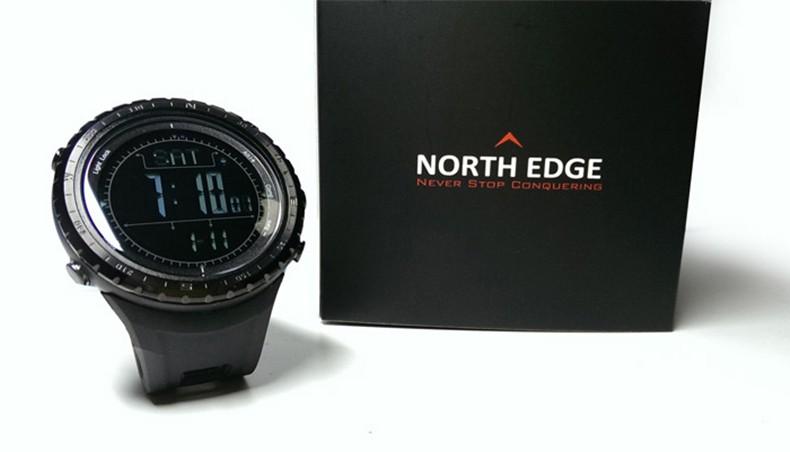 Мужчины спортивные часы высотомер барометр компас термометр прогноз погоды шагомер часы цифровой запуск восхождение наручные часы