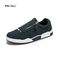 Free Shipping Men s Shoes 2016 PU Leather Casual Shoes Men High Quality Zipper Zapatillas Deportivas