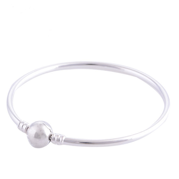 Authentic 925 Sterling Silver Charm Bangle fits Pandora Style Charms<br><br>Aliexpress