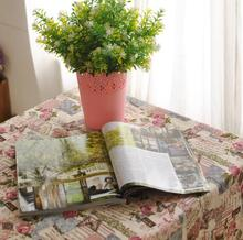 Cotton and linen Large Tablecloth Romantic Euro Style Washable Kitchen floral design placemat(China (Mainland))