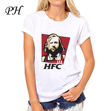 PH 2016 Summer Clothing Game of Thrones chicken Print tshirt woman Cute Wolf O-neck tee hipster tops American apparel