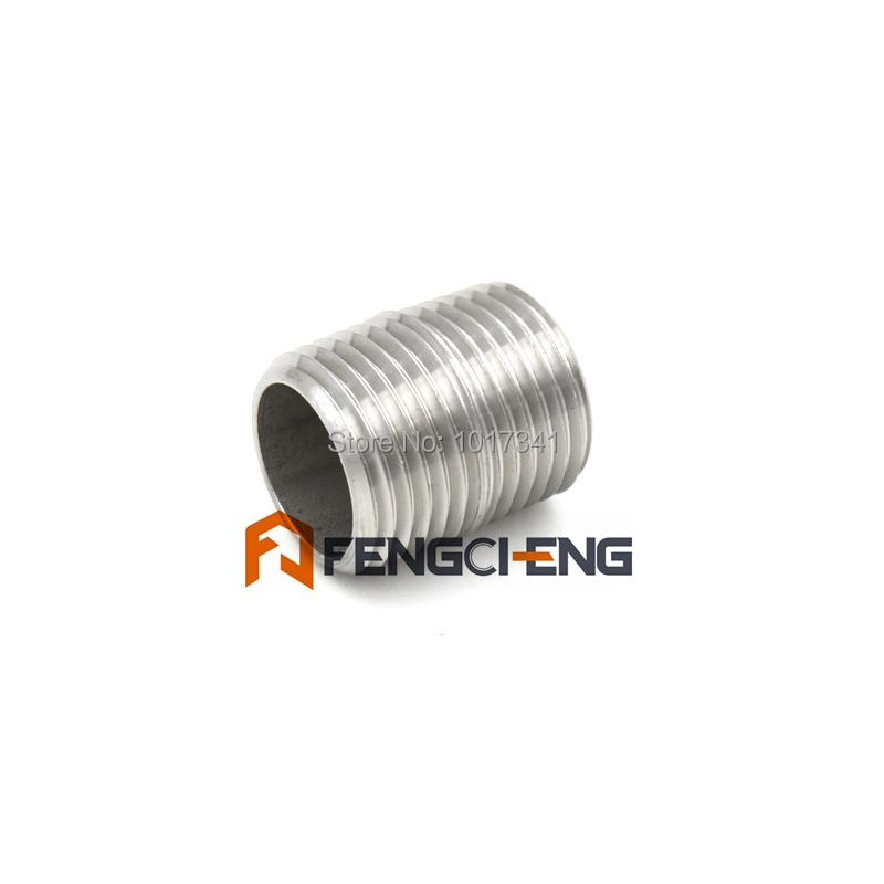 "Stainless Steel 304 1/2""NPT Close Nipple - 1""L Pipe Fitting Homebrew Hardware(China (Mainland))"