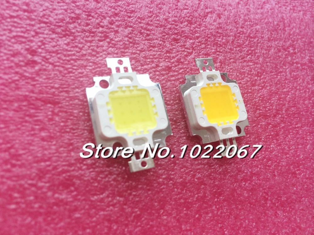 100PCS 10W LED Integrated High power LED Beads White/Warm white 900mA 9.0-12.0V 900-1000LM 24*48mil Taiwan Huga Chips(China (Mainland))