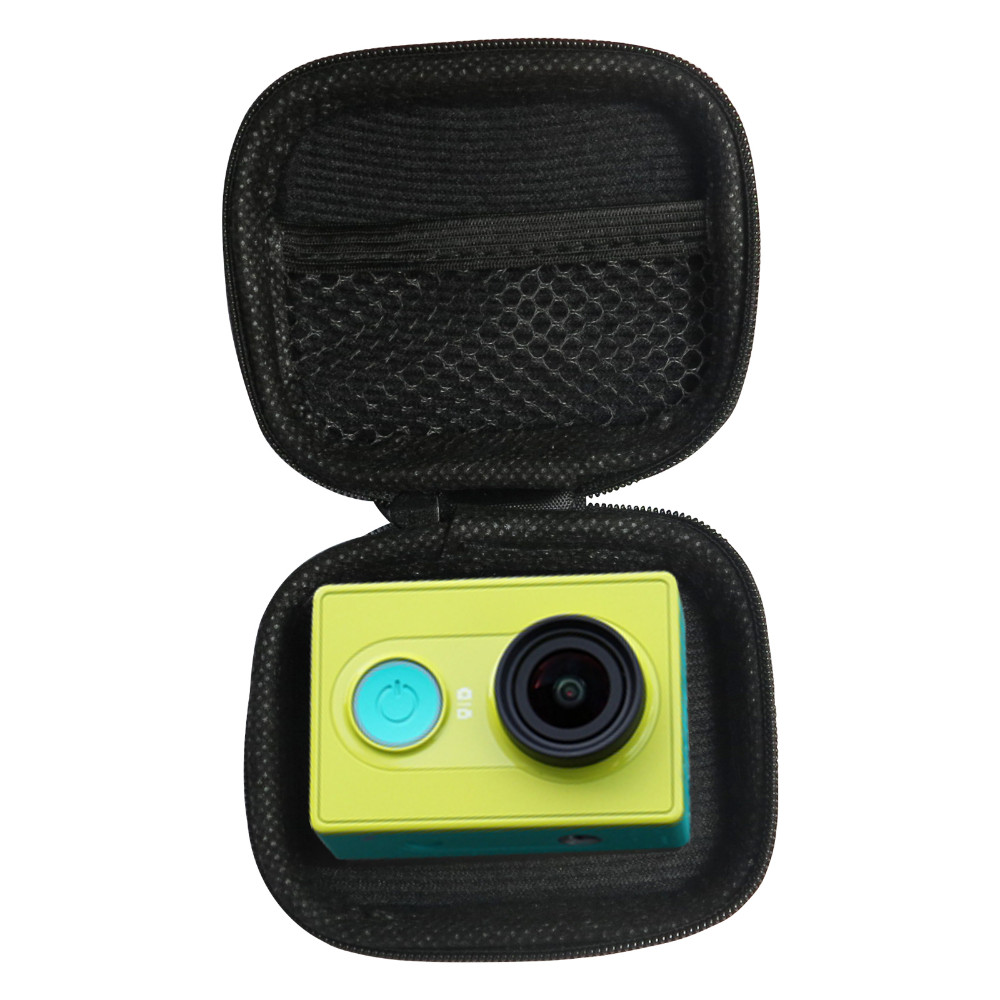 image for Portable Small Size Black Bag Case For Xiaomi Yi 2 Gopro Hero 4 Sjcam