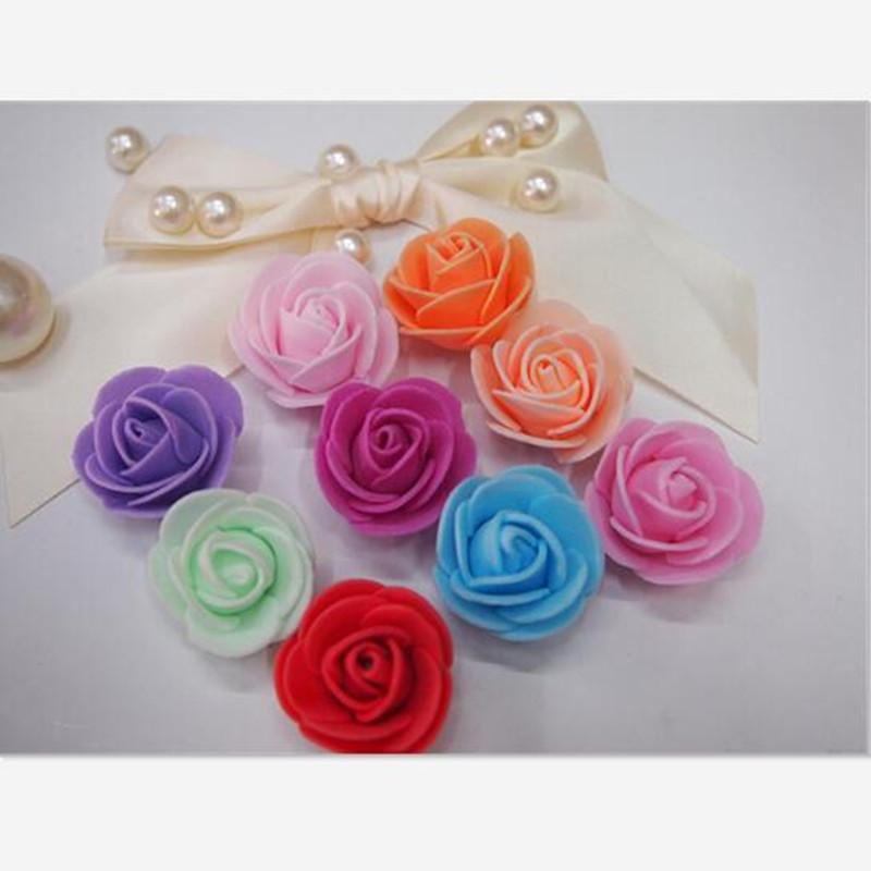 DIY 3.5cm Mini Little Flower Head Foam PE Simulation Roses Decorative Flower Artificial Flowers for Wreath Wedding Decoration(China (Mainland))