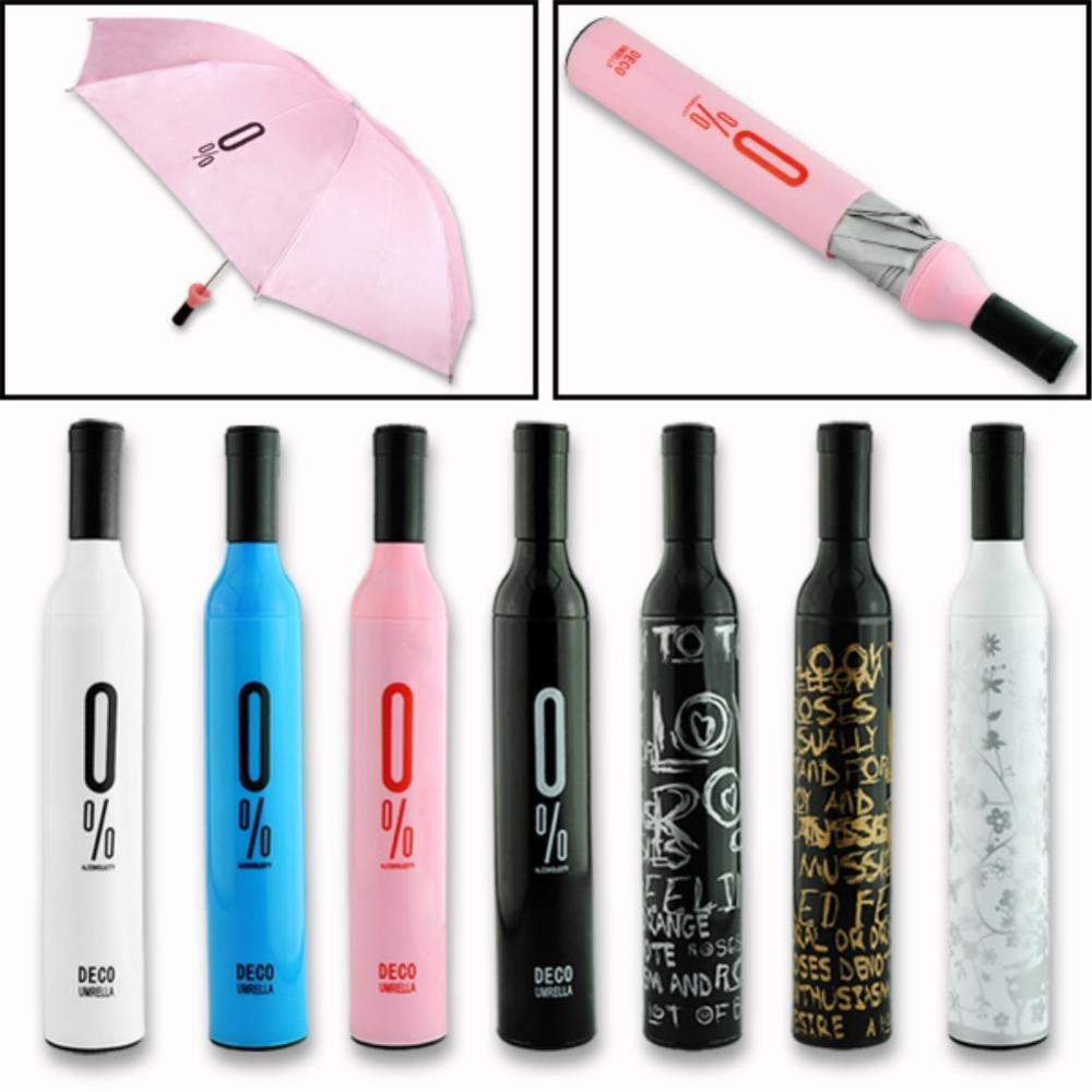 High Quality Designers Wine Bottle Umbrellas Colored Brand Manual 3 Folding Mini Women&Men Clear Rain Umbrella Paraguas For Sale(China (Mainland))