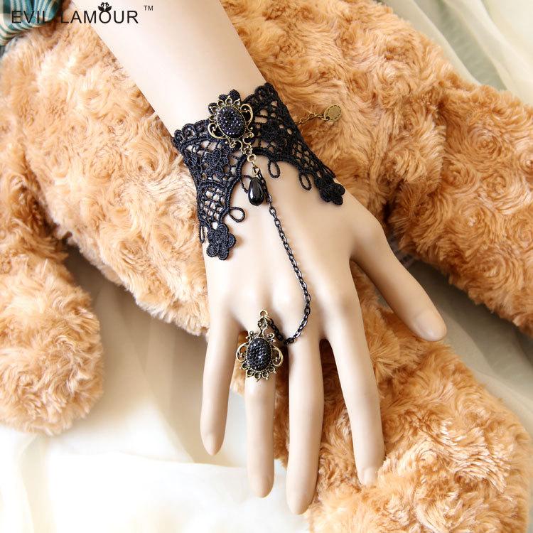 Elf Vintage Lace bracelet chain Bride Bridesmaid wrist flower jewelry development group(China (Mainland))