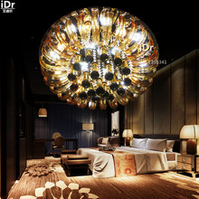 Crystal Light modern minimalist living room bedroom creative round led lamp Low-voltage lights Ceiling Lights wwy-0248(China (Mainland))