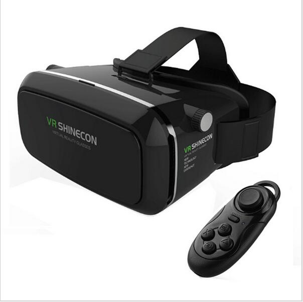 2016 VR Shinecon Virtual Reality Headset 3D Glasses Google Cardboard DVD Movies For iphone Samsung 4.0-6.0 Inch Smartphone(China (Mainland))