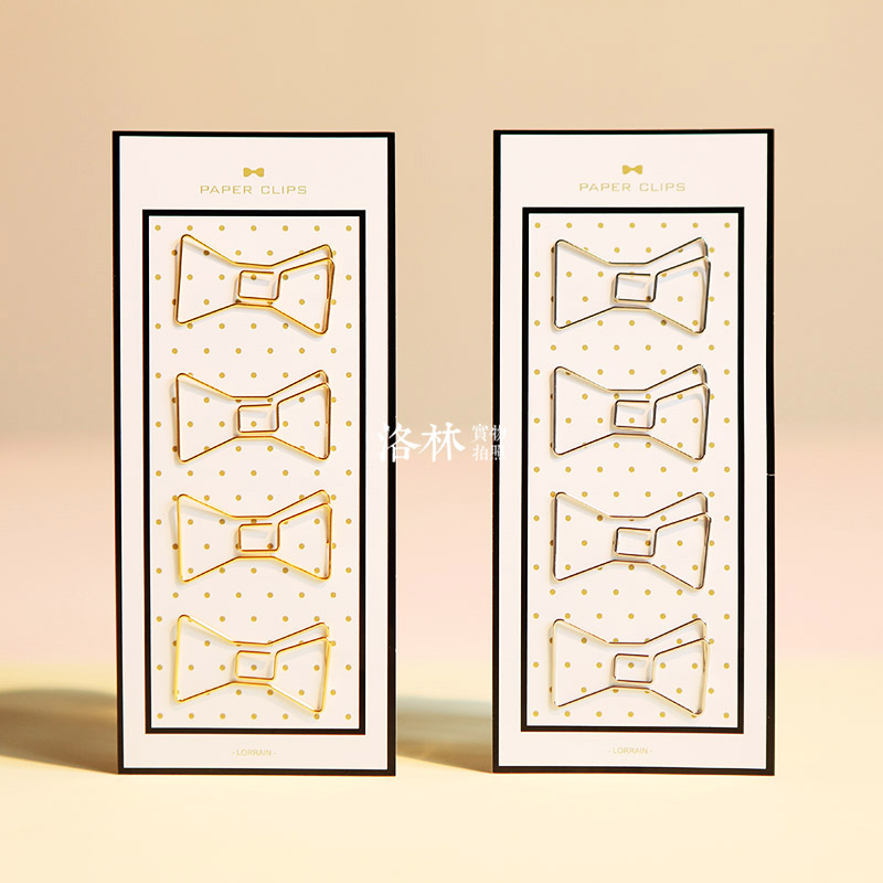 Free shipping cute paperclip book mark Bow clip diy accessories bookmark bookend clip metal paper clip gold silver paper clips(China (Mainland))