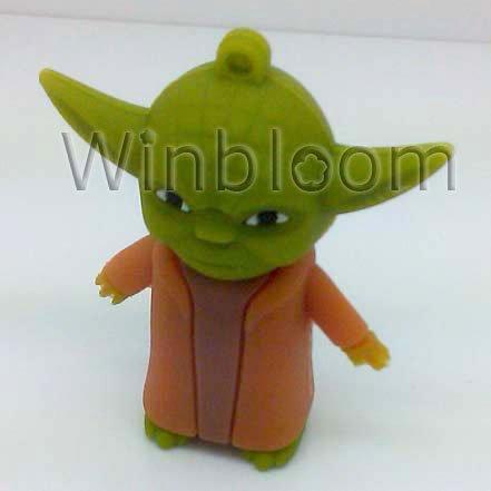 Master Yoda USB Flash Drive 4GB 8GB 16GB 32GB Real Capacity PVC Pen Drive PU0060(China (Mainland))