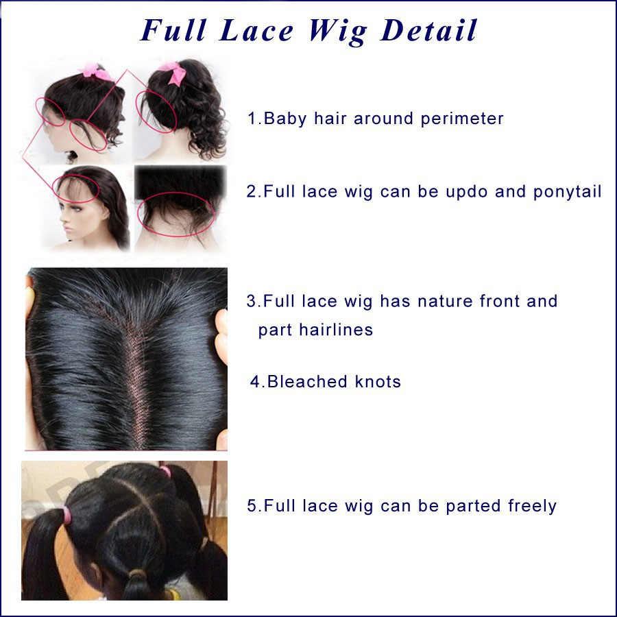 full lace wigs detail