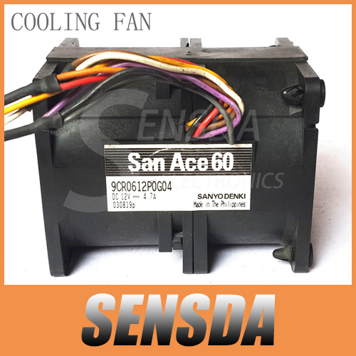 Free Shipping Wholesale SANYO 9CR0612P0G04 6076 4.7A DC 12V 6cm 60mm high speed car booster violent inverter cooling fans(China (Mainland))