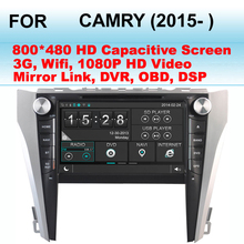 For Toyota Camry Car DVD Player (2015- ) Support WiFi and 3G Internet , With 9 Inch HD Digital Multi Touch Capacitive Screen(China (Mainland))