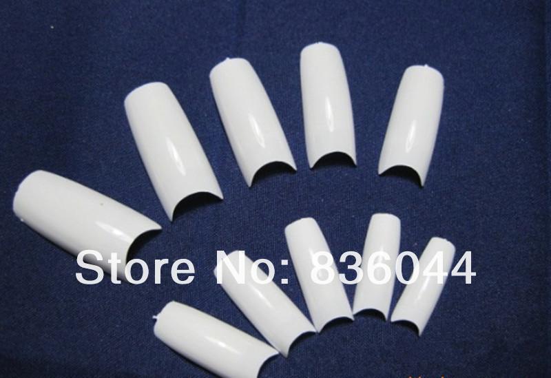 Free shopping 500pcs Natural White Tips French False Acrylic UV Gel Salon Design Nail Art Manicure DIY(China (Mainland))