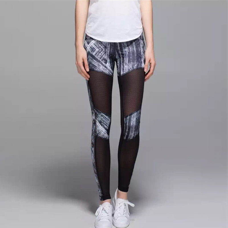 Sexy Mesh Yoga Pants Quik dry Women's Tracksuit Sports Tights ...