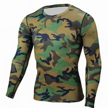 Buy Men's Compression Shirt Camouflage Crossfit Fitness T Shirt Tights Bodybuilding Workout Tops Base Layer Male Brand Clothing MMA for $8.12 in AliExpress store