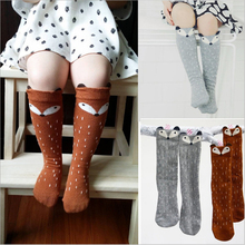Newborn Toddler knee high sock Baby Boy bebe Girl fox Socks cotton Cute Cartoon Animal Cat leg warmers For newborns infantile(China (Mainland))