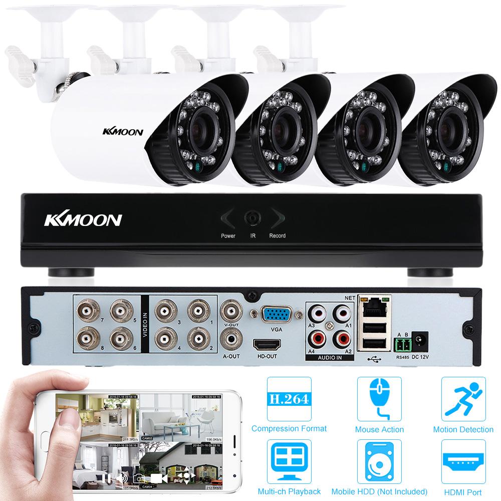 KKMOON 8CH HDMI 960H DVR Security Camera System 4pcs IP66 Waterproof 700TVL CCTV Camera Outdoor IR-CUT Home Security System Kits(China (Mainland))