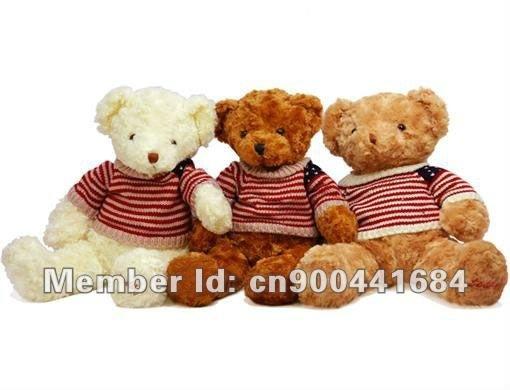 """Free Shipping  18"""" Big Plush Stuffed Teddy Bear Toy In Nice Sweater Bear"""