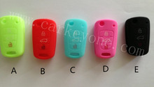 Free Shipping  Silicone car key cover for KIA Sportage Seed Picanto K2 K5 remote case  wholesale and retail