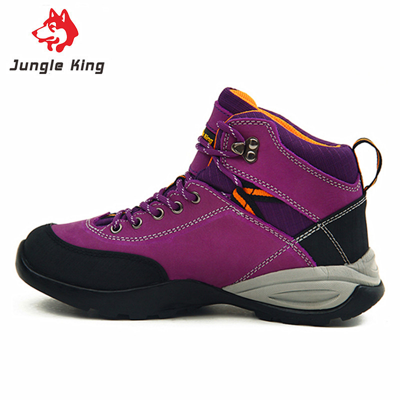 New Arrivals Jungle King High-top Trekking Hiking Shoes Woman Sport Boots Climbing Waterproof Sneakers Non-slip Rubber Sole(China (Mainland))