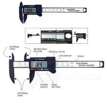 100mm 4inch Digital Electronic Carbon Fiber Vernier Calipers LCD Plastic Caliper Gauge Micrometer Ruler(China (Mainland))