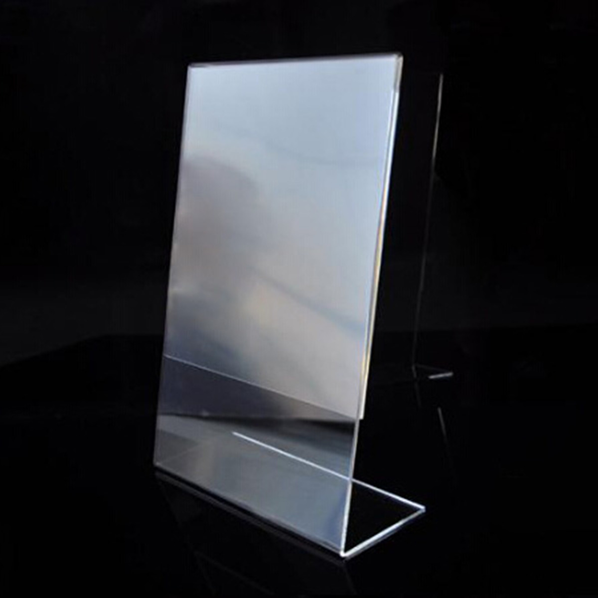 New Arrival High Quality Acrylic Poster Menu Holder Leaflet Display Stands Name Holder A4 New Fit For Hotel Restaurant(China (Mainland))