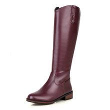 KARINLUNA 2020 Size Lớn 43 Thêm sang trọng Nữ Giày Nữ giày nữ Thời Trang thu đông Đầu Gối Cao Giày Đen Đi Giày người phụ n(China)