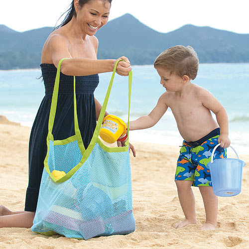 Extra Large Sand Away Beach Mesh Bag Children Beach Toys Clothes Towel Bags Baby Toy Collection Bag Beach Storage(China (Mainland))