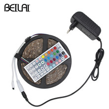 Buy 5050 Waterproof RGB LED Strip 5M 300LED 150LED DC 12V Fita LED Light Strips Flexible Neon Tape Add 3A Power 44Key Remote for $9.99 in AliExpress store
