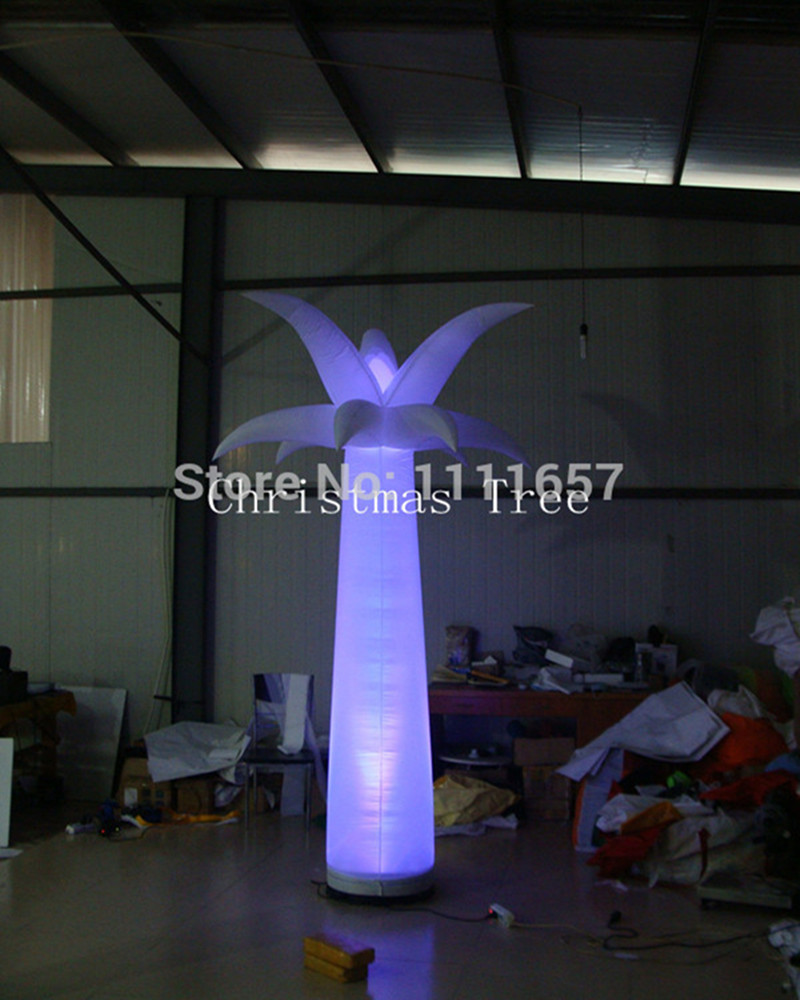 Led inflatable pillar star party /stage decoration /led inflatable tree(3m)Black Base(China (Mainland))