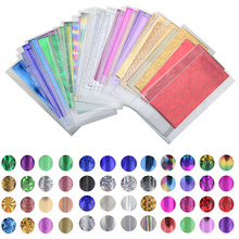48 Sheet 35cm*4cm Mix Color Transfer Foil Nail Art Star Design Sticker Decal For Polish Care DIY Free Shipping Universe Nail Art(China (Mainland))