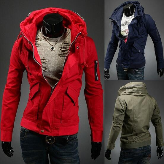 Free shipping 2015 Brand Men's Jacket Spring New Arrival Men Jacket Fashion Jacket Casual Spring Autumn Jacket 5 Colors dress(China (Mainland))