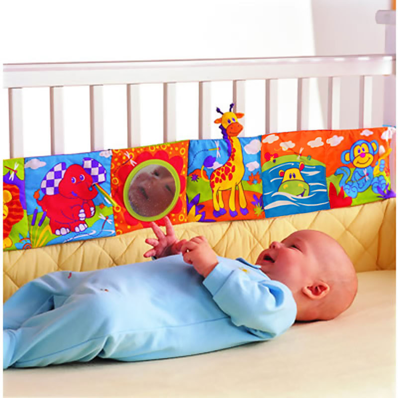 Promotion price touch lamaze multifunctional fun bed around multi-colored baby cloth books baby bed around LZ019 Baby Toy(China (Mainland))