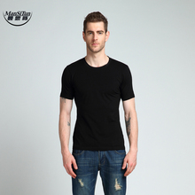Buy Man Si Tun Summer New Solid Color Slim Men's Short-sleeved T-shirt Casual O-neck T-shirt 2017 Simple Fashion Men Clothing for $1.43 in AliExpress store