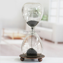 Hand-blown Timer Magnet Hourglass / Magnetic Hourglass (China (Mainland))
