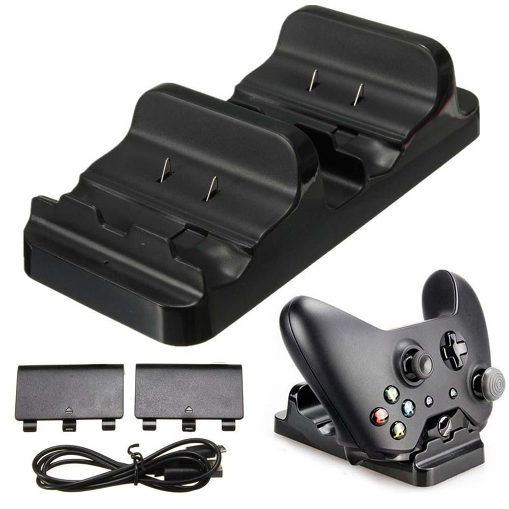 Dual Charging Dock Controller Charger +2x Rechargeable Batteries for XBOX ONE rechargeable battery best Charging Dock(China (Mainland))