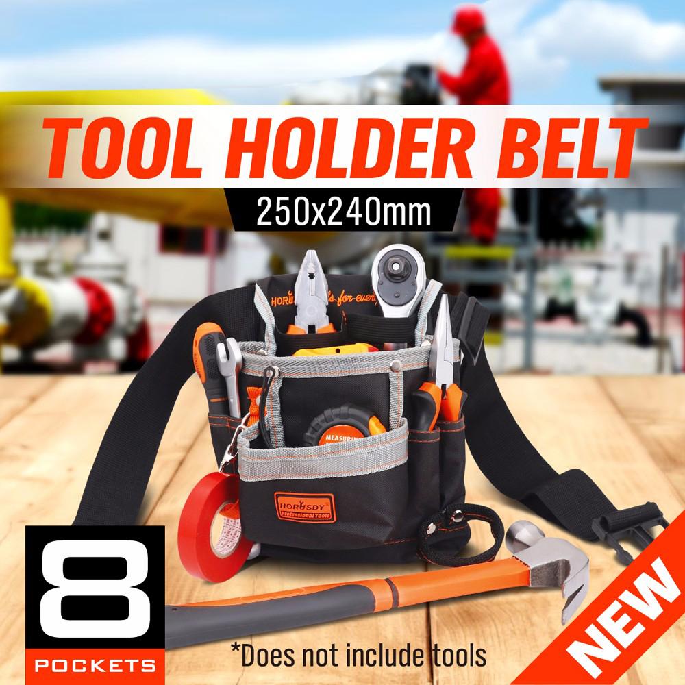 8 Pockets Multiul Tool Waterproof Oxford Tool Bag Electrician Tools Foldable Belt Waist Tool Belt Bouch Storage Bag AD1020(China (Mainland))