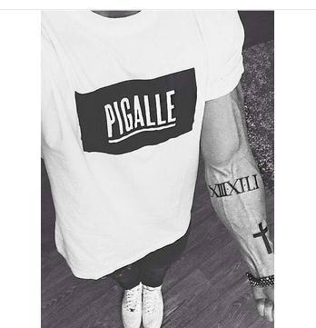 MENS Graphic T-Shirts Pigalle Box Logo FOOTBAL PYERX JAY-Z T Shirt yeezy ASAP Rocky pigalle kanye west yeezus(China (Mainland))