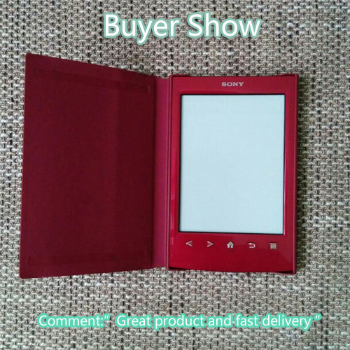For Sony PRS T1 PRS T2 Digital Ebook Reader case Leather Cover for Sony prs t1