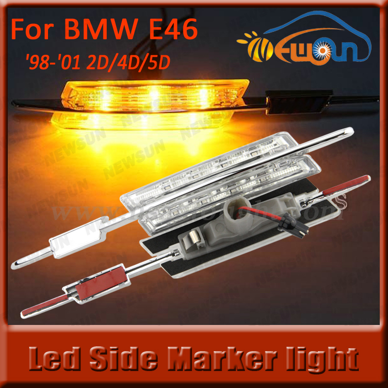 China cheap LED Side marker(crystal) fender clearance lamp light E46 '98-'01 2D/4D/5D Amber Led side marker light for BMW(China (Mainland))