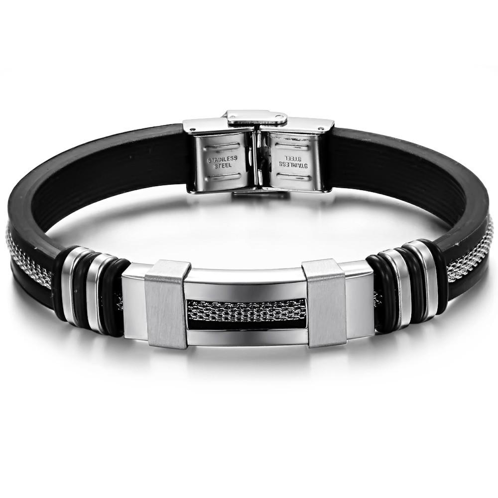 2015 Rushed Pulseiras Femininas New Jewelry Fashion Trend Titanium Steel Silicone Bracelet Ph793 / - kiki fashion jewelry ( worldwide store)