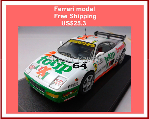 Free Shipping ixo 1:43 FERRA-RI 348 GT supercar No.64 Italian team alloy car models,children classic toys collection(China (Mainland))