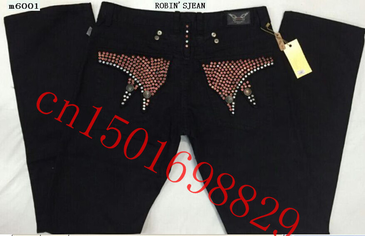 Hot 2015 New Denim Jeans Famous Brand Robin Straight Slim Fit Trousers Big size 30-42 - Q-Z-M,.LTD store