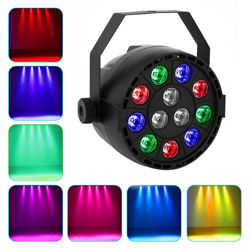 US/EU Plug 12 LED RGB LED Light DMX Color Mixing 8CH Can Background Lamp DJ Club Bar Professional PAR Light(China (Mainland))