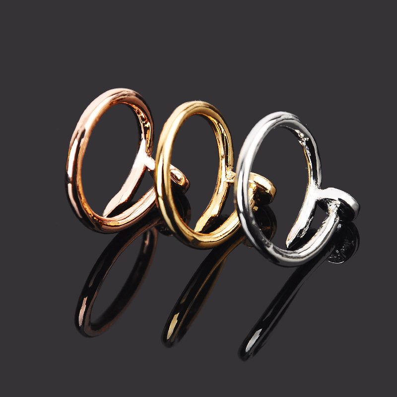 Style Gold Sliver Plated Finger Stainless Steel Nali Rings Jewelry Women 2015 Carter Love Screw aneis anillos - top best seller store