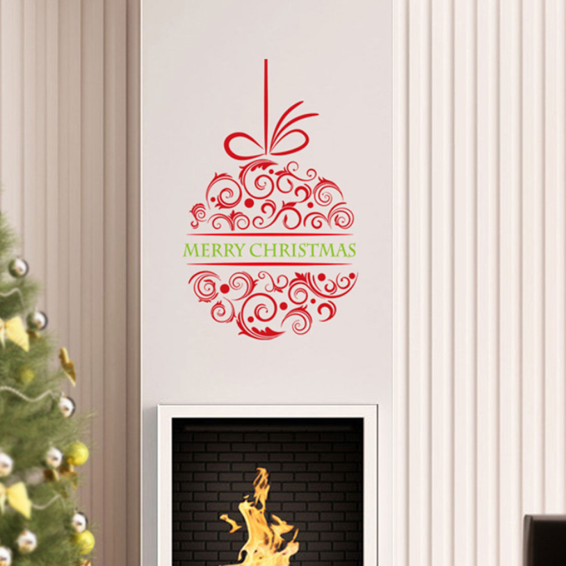 Stickers christmas window decals promotion shop for for Sia home fashion christmas decorations