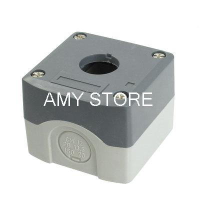 22mm Hole Gray Plastic Push Button Switch Holder Control Box Case(China (Mainland))