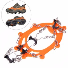 Anti Slip Ice Grip Cleats Shoe Boot Crampon Ice Grip Chain Overshoe Spike Sharp Ice Gripper for Outdoor Snow Walker(China (Mainland))